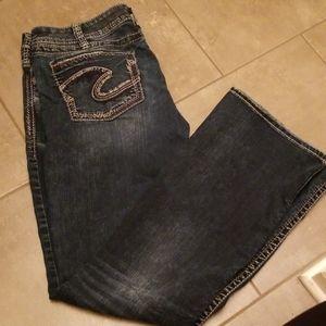 Silver Suki bootcut Jean's EUC 34x33